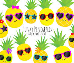 pineapple with sunglasses clipart. pineapple clip art pictures, pineapples in sunglasses summer clipart set, fruit illustrations, digital designs with l