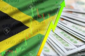 Jamaican Currency Chart Jamaica Flag And Chart Growing Us Dollar Position With A Fan