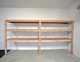 diy garage shelves attached to walls