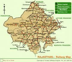 rajasthan railway map maps of rajasthan