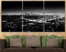 la skyline black and white la art print los angeles art la art la panoramic la california wall art home decor office wall art la on wall art decor los angeles with los angeles art print 11x14 la california ca downtown