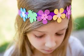 Paper Flower Headbands Kids Diy Paper Flower Headband Celine Lunakim