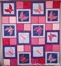 Dancing Butterfly Quilt Sampler Pattern by Leah Day | LeahDay.com & Dancing Butterfly Quilt Pattern Adamdwight.com