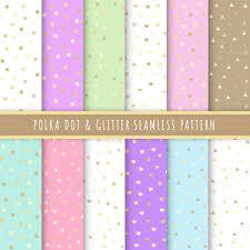Polka Dot En Glitter Naadloze Patroon Collectie Set Van 12