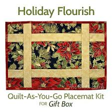 118 best quilt as you go placemats images on Pinterest | Sew ... & Quilt-As-You-Go Placemat Kit - Gift Box -