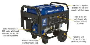 Powerhorse Portable Generator 13000 Surge Watts 10000 Rated