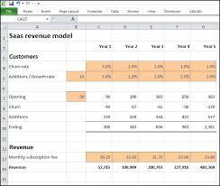 Revenue Model Template Saas Revenue Model Plan Projections