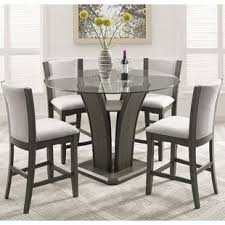 black dining room sets round. Kangas 5-Piece Round Counter Height Dining Set Black Room Sets T