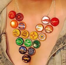 beer bottle cap necklaces