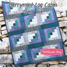Berrymint Pre-Cut Twelve Block Log Cabin Quilt Kit Featuring ... & Hover to zoom Adamdwight.com