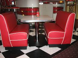 Red Retro Kitchen Watch More Like Retro Dinette Booths