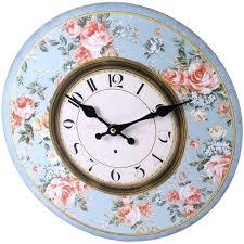 blue wall clock large vintage rustic wall clocks shabby kitchen chic blue wall clocks uk