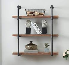 Amazon.com: O&K Furniture 3-Tier Vintage Industrial Pipe Wall Shelf ...