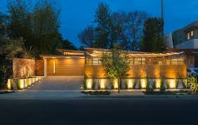 driveway lighting landscape contemporary with concrete wall intended for elegant property exterior landscape lights decor