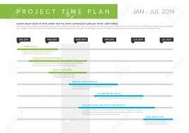 Vector Project Timeline Graph Gantt Progress Chart Of Project