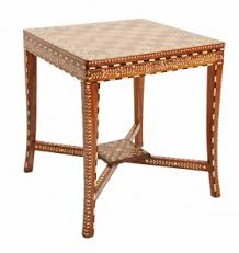 Jalan furniture Barasat Bone Inlay Side Chess Table Singaporelistedcom Miami Furniture Home Collections Made In The Usa Morocco India