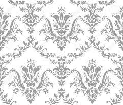 Florale Vormen Op Een Witte Achtergrond Naadloze Behang Patroon
