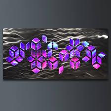 wall art designs led wall art abstract geomatric design metal