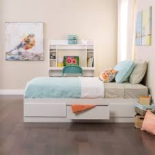 Prepac Bedroom Furniture Shop Prepac Furniture White Twin Platform Bed With Storage At