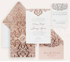Luxury Wedding Invitations By Ceci New York Our Muse Romantic Lace Wedding Invitation Design Rose Gold Delicate