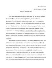 ap us history essay treaty of versailles dbq michael 2 pages 56797296 ap us history essay treaty of versailles