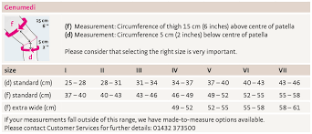 Knee Brace Size Chart Genumedi Knee Support