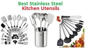 Top 15 Best <b>Stainless Steel Kitchen Utensils</b> in 2019