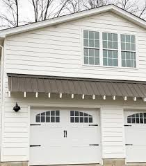 the eyebrow roof does a great job of filling in the white e and making the garage look more custom