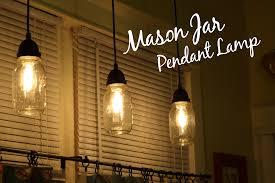 diy mason jar pendant lamp