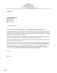 sample cover letter administrative support  madratco