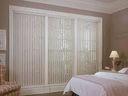 image of sliding glass door window treatments bedroom