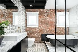 brick bathroom house brick pattern bathroom tiles brick bathroom highlands industrial brick wall bathroom ideas