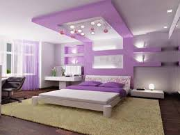 Modern Bedroom For Girls Bedroom Design Warm Lamp Interior Wooden Bed Frame On The Wooden