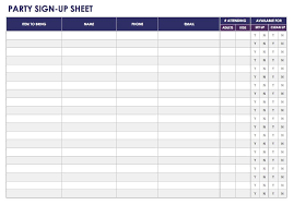 Party Sign Up Sheet Template Free Sign In And Sign Up Sheet Templates Smartsheet