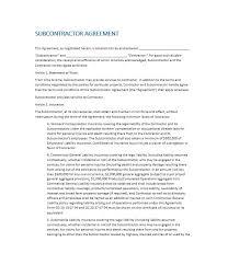 printable subcontractor agreement 01