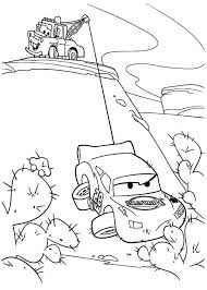 lightning mcqueen and mater coloring pages to print mater tow mater helping lighting mcqueen coloring pages