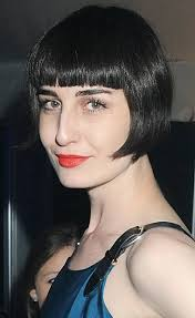 blunt bangs with a bob haircut