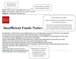 Insufficient Funds Notice Unt System