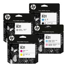 <b>HP 821A</b> 400ml <b>Latex</b> 110/115 Printer Ink & Optimizer Cartridges