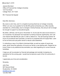 write a financial aid appeal letter