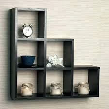 square box shelves white 3 wooden cube wall