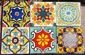 ... Comely Mexican Tile Bathroom Sinks For Bathroom Decoration : Fetching  Floral Mexican Tile For Bathroom Wall ...