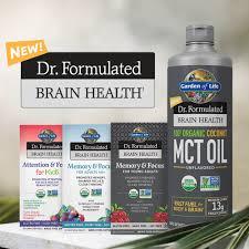 garden of life dr formulated brain health 100 organic coconut mct oil 16oz com