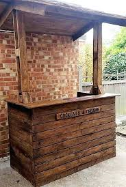 build a tiki bar out of pallets home bar plans elegant how to build a pallet