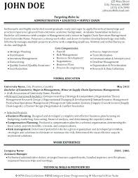 Supply Chain Resumes Interesting Admin Resume Administrator Sample Network Entry Level With Depict