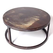 round industrial coffee table. Elegant Round Iron Coffee Table With Collection In Industrial Cherry A