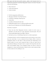 essay bank essay for and against project manager resume cover  study on credit risk management of sbi cochi 5