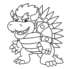 Dry Bowser Kleurplaaten How To Draw Bowser From Super Mario Brothers