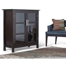 Homestyle Furniture Kitchener Simpli Home Kitchener Medium Storage Cabinet Reviews Wayfair