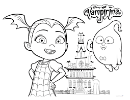 Vampirina Coloring Pages With Demi Free Printable Coloring Pages